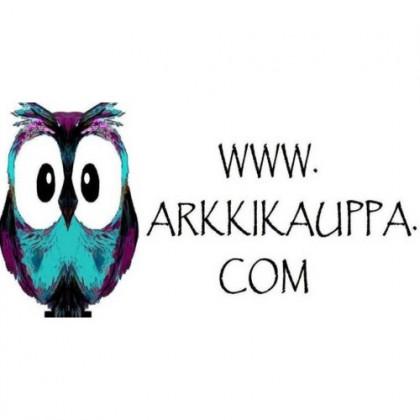 Piirretty pöllö. Teksti: www.arkkikauppa.com.